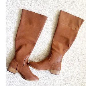 Tan Brown knee high boots